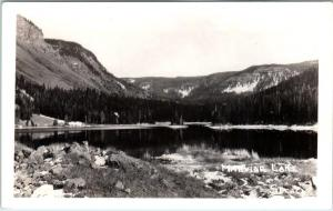 RPPC  MARVINE LAKE, Colorado  CO   ca 1920s  Stealy Real Photo Postcard