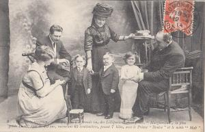 The Lilliputians Marguerita, Prince Deniso & nobleman Mab 1930 early postcard