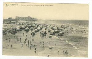 Ostende, Belgium, 00-10s Algemeen gezicht van het strand op het uur der baden
