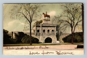 Chicago IL-Illinois, President Grant Monument, Vintage c1905 Postcard