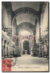 Old Postcard Marseille Interior of the Cathedral