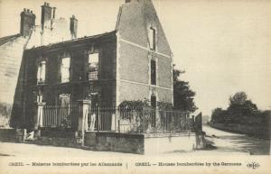 CPA Militaire - CREIL - Maisons bombardées par les Allemands (92037)