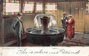 Mineral Spring, Geneva, New York, Early Postcard, Used in 1907