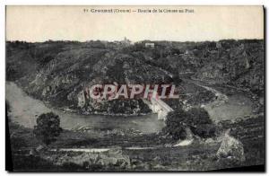 Old Postcard Crozant Loop Creuse at Pont