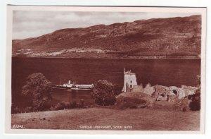 P1304 vintage RPPC unused ship castle urquhart loch ness scotland