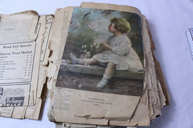 Vintage Scrap Book with Newspaper & Other Clippings Early to Mid 1990's - Lot A