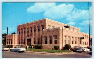 GREENWOOD, Mississippi MS ~ CITY HALL 1950s Cars~Main & Church Streets Postcard