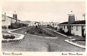 Santa Maria Acores Portugal Bairro Aeroporto Real Photo Antique Postcard J68834