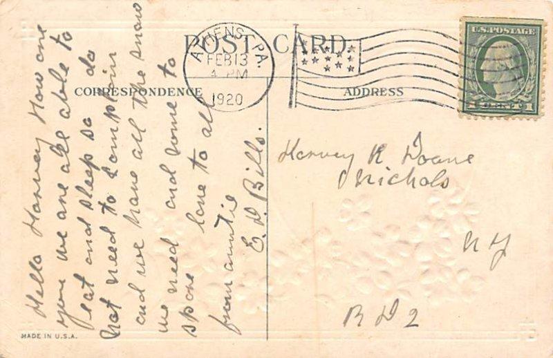 Butterflies Post Card, Butterfly Postcard Valentine Greetings 1920