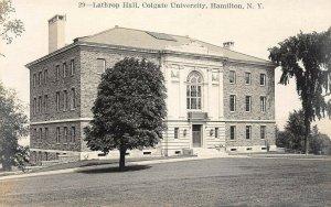 LP57   RPPC Hamilton New York Colgate University Lathrop Hall Vintage Postcard