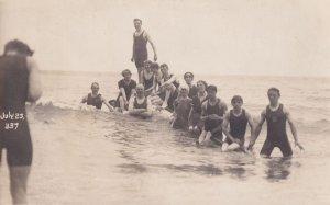 Ilfracombe Devon Mens Athletics Swimming Group Old Postcard