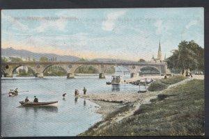 Scotland Postcard - Perth Bridge and Boat Station  DC1248