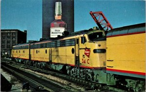 Postcard~The Milwaukee Road~Union Pacific Railroad~E9~Chicago Union Station~A2