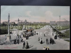 c1905 - Hampshire:Southsea Common - showing tram, excellent animated scene