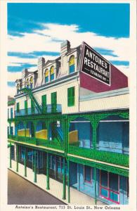 Antoine's Restaurant 713 St Louis Street New Orleans Louisiana