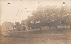 <A3> INDIANA In Real Photo RPPC Postcard c1910 GILEAD Farm Real Estate Advertise