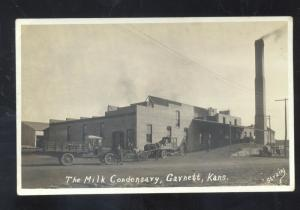 RPPC GARNETT KANSAS THE MILK CONDENSARY FACTORY TRUCK REAL PHOTO POSTCARD