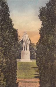 CHARLOTTESVILLE VIRGINIA PRESIDENT JAMES MONROE MARBLE STATUE POSTCARD c1930s