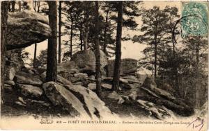 CPA Foret de FONTAINEBLEAU Rochers du Belvedere Corot (Gorge aux Loups (248965)