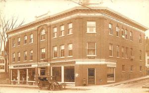 Lancaster NH Bailey Block Store Fronts Horse & Wagons RPPC Postcard