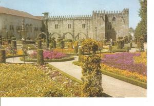Postal 034824 : Braga (Portugal). Jardim de Santa Barbara e Biblioteca Publica