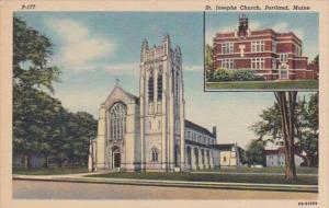 Maine Portland St Josephs Church Curteich