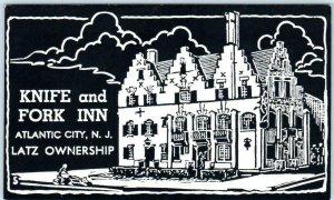 ATLANTIC CITY, New Jersey NJ ~ KNIFE and FORK INN Latz Ownership  Postcard