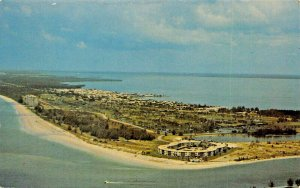 LONGBOAT KEY FLORIDA~SHOWING NEW PASS~AERIAL VIEW POSTCARD
