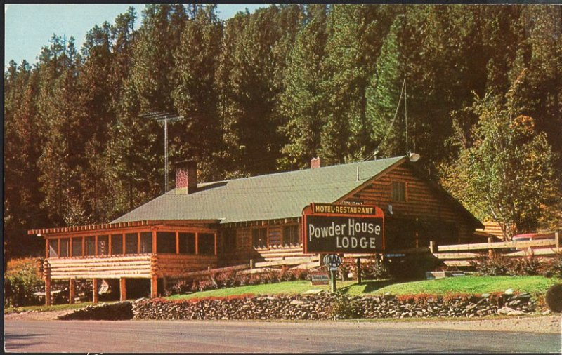 SD Powder House Lodge near Mt. Rushmere Highway 16A Restaurant Motel 1950s-1970s