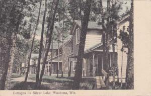 Cottages on Sliver Lake - Wautoma WI, Wisconsin - pm 1909 - DB