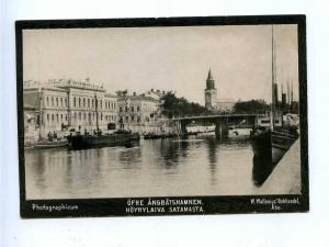 192786 FINLAND ABO steamer port Vintage photo postcard
