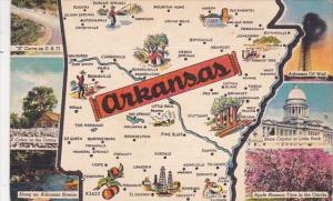 A State Map Of Arkansas 1955