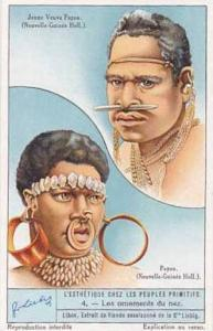Liebig Vintage Trade Card S1292 Adorning the Body by Primitive People No 4 Le...