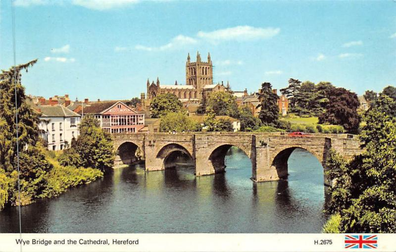 Wye Bridge and The Cathedral Hereford Dom Brucke