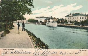 Steamer at Wenersborg, Sweden - DB