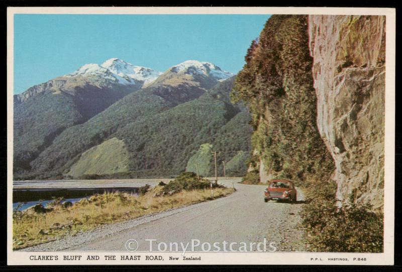 Clarke's Bluff and the Haast Road