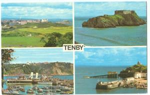 UK, Tenby, 1974 used Postcard