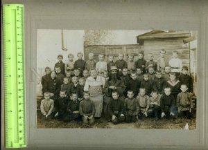 230910 RUSSIA 1915 year Rostov Yaroslavl province children photo old BIG PHOTO