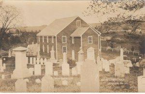 RP; WALDOBORO , Maine , 1900-10s ; German Church & Cemetery