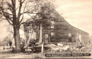 Connecticut Torington John Brown's Birthplace 1954