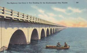 Florida Keys Fishing Along Overseas Highway That Goes To Southernmost City Ke...