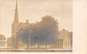 Ida Grove Iowa~First Presbyterian Church~House Next Door~1905 Real Photo~RPPC