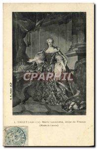 Old Postcard Tocque Lezinska Mary Queen of France Louvre Museum Paris