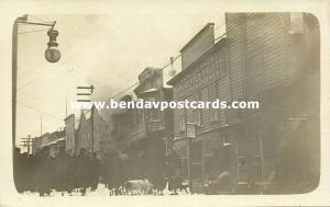 Nome, Alaska, Building on Fire near Carllis Bros. Grocery (1910s) RPPC