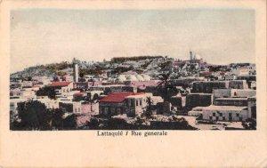 Lattaquie Latakia Syria Birds Eye View Postal Used Vintage Postcard JI658414