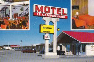 Dining Room, Motel Le Campagnard, Matane, Quebec, Canada, PU-1969