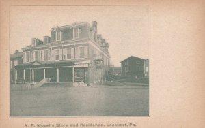 LEESPORT , Pennsylvania , 1901-07 ; A.F.Mogel's Store & Residence