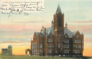 Syracuse New York~Crouse College for Women~1906 Rotograph Co Postcard