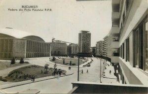 Romania bucuresti vedere din piata palatului   Postcard