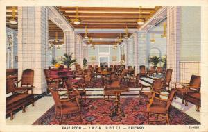Chicago Illinois~East Room At YMCA Hotel~1948 Postcard